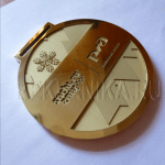 Изготовление медали, механическая и лазерная гравировка, латунь