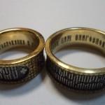 гравировка внутри колец , лазерная гравировка, золото