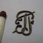 декоративная накладка, лазерная гравировка, латунь