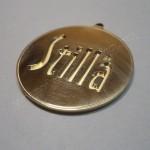 Изготовление медали, механическая гравировка, латунь