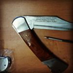 гравировка на ноже. лазерная гравировка