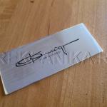 шильдик алюминевый, механическая гравировка, заливка эмалью