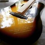 гравировка на гитаре, затирка краской, лазерная гравировка