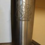 гравировка на вазе, металл, лазерная гравировка