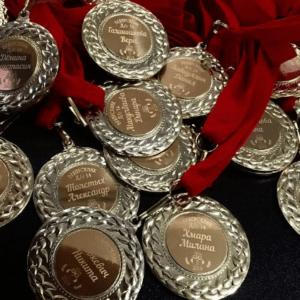 Лазерная гравировка на медалях